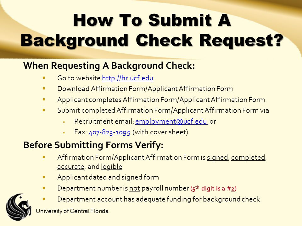 How To Submit A Background Check Request
