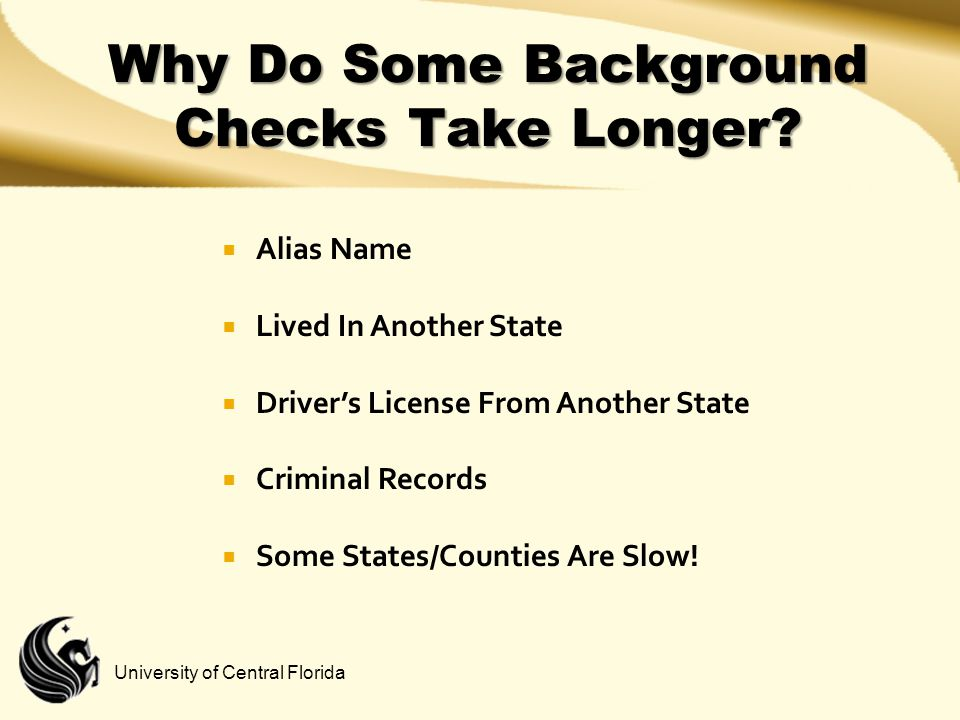 Why Do Some Background Checks Take Longer