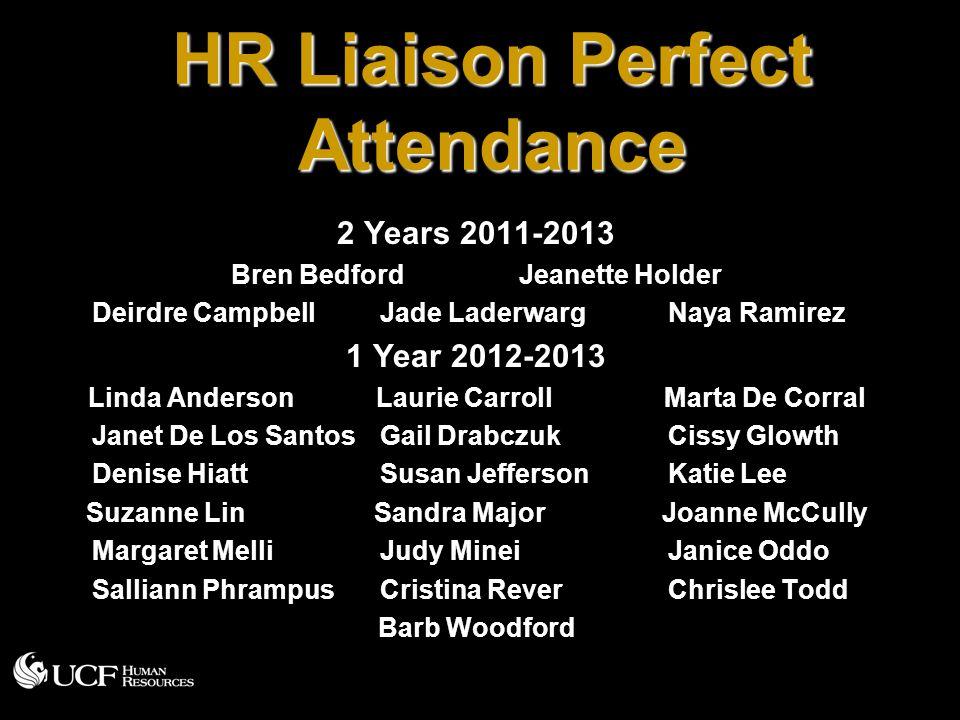 HR Liaison Perfect Attendance