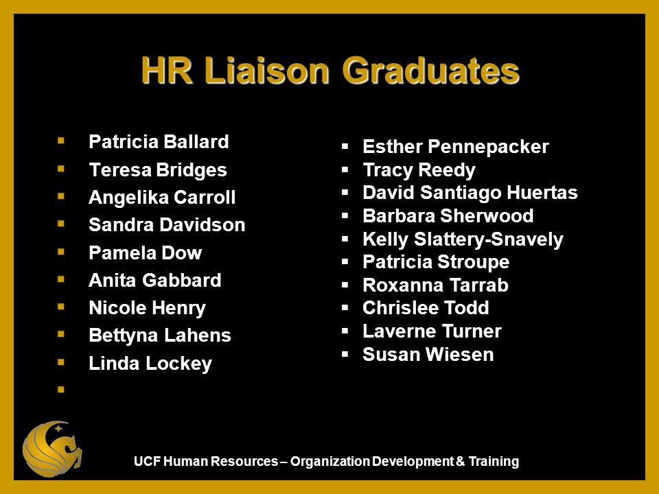 HR Liaison Graduates Patricia Ballard Esther Pennepacker