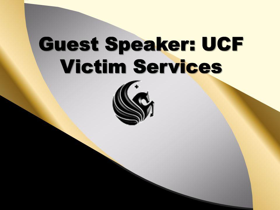 Guest Speaker: UCF Victim Services