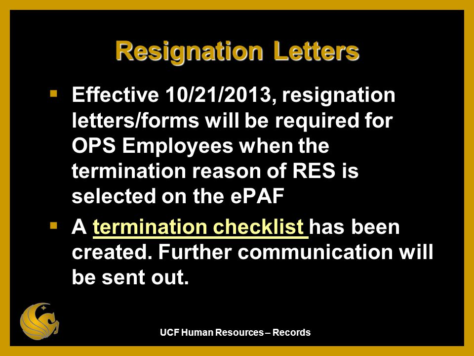 Records Fall 2011. Resignation Letters.