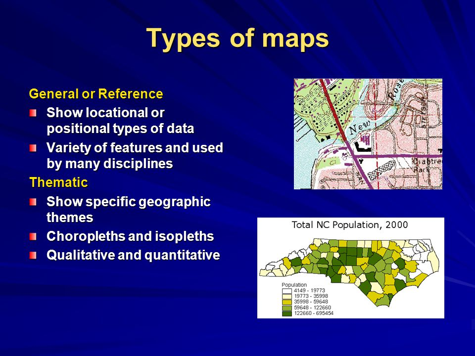 Types of maps General or Reference