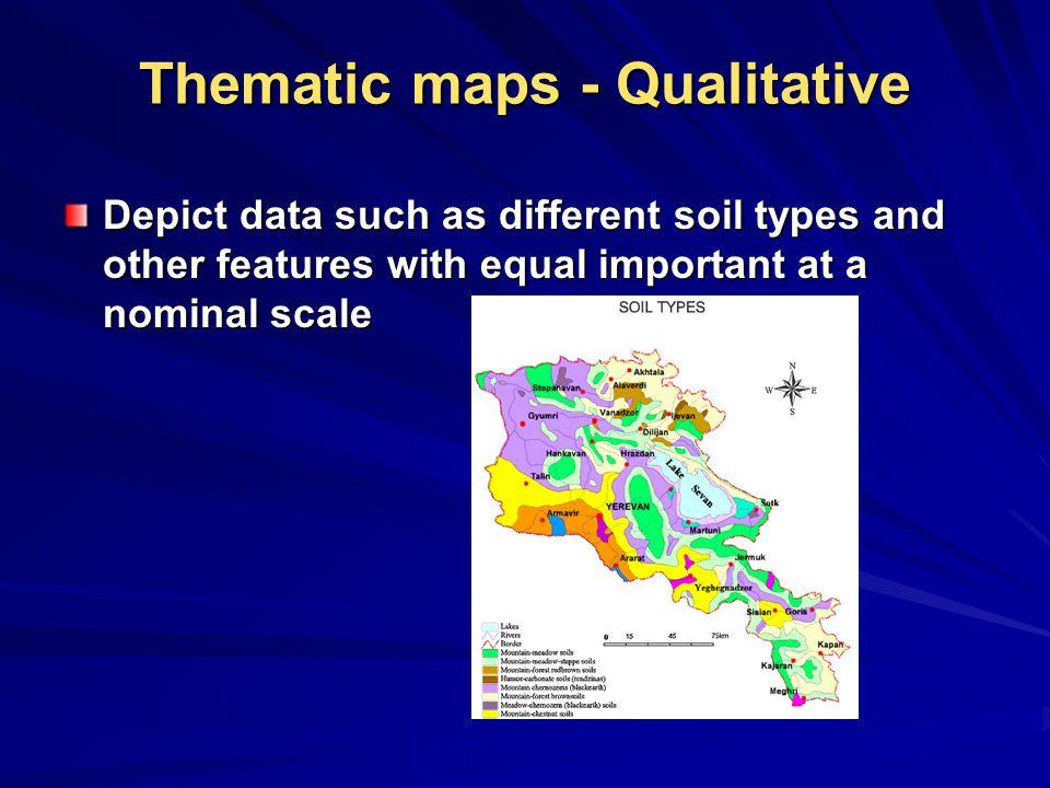 Thematic maps - Qualitative