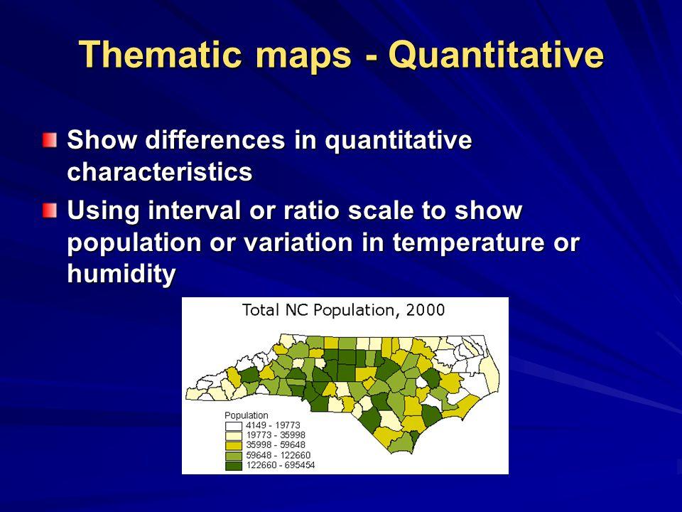 Thematic maps - Quantitative