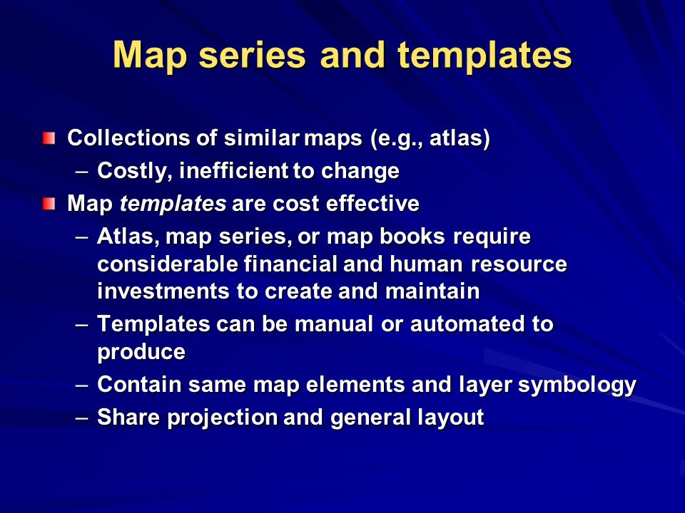 Map series and templates