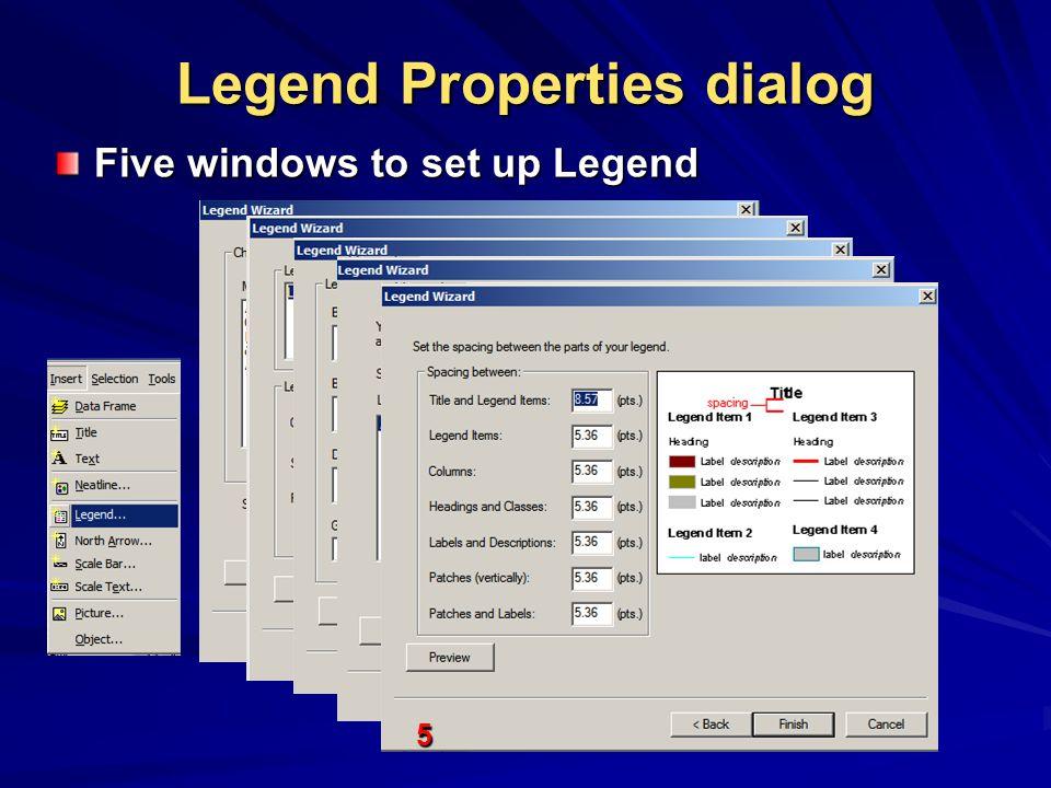 Legend Properties dialog