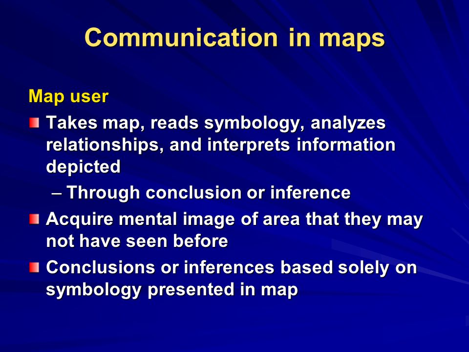 Communication in maps Map user