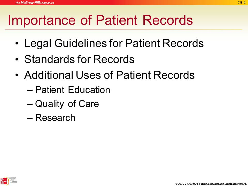 Importance of Patient Records