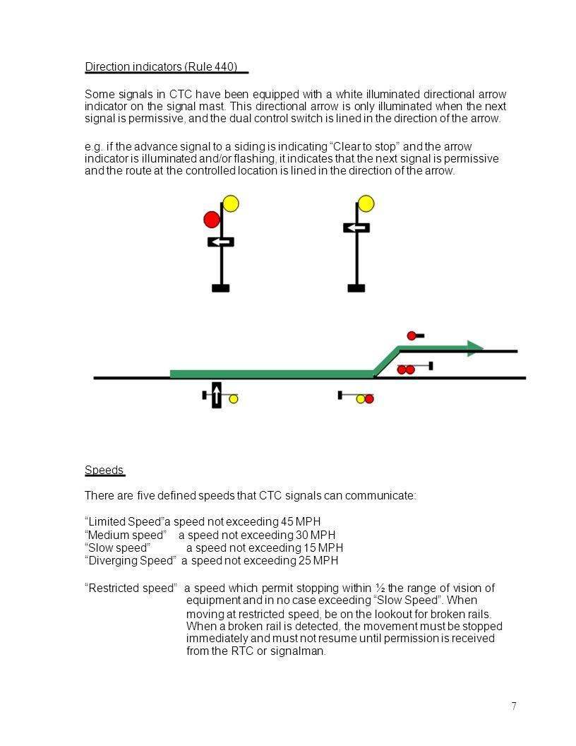 Direction indicators (Rule 440)