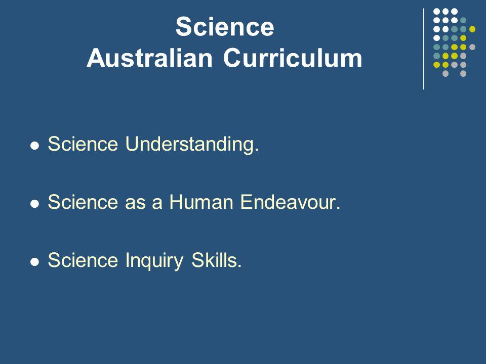 Science Australian Curriculum