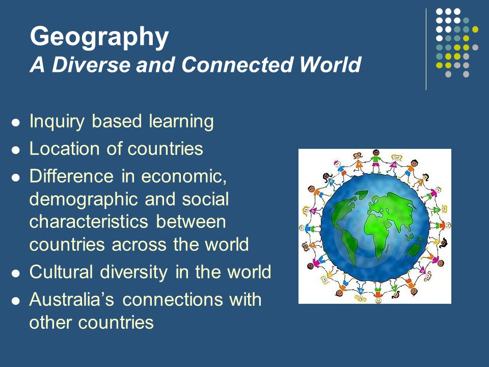 Geography A Diverse and Connected World