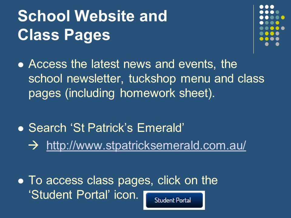 School Website and Class Pages