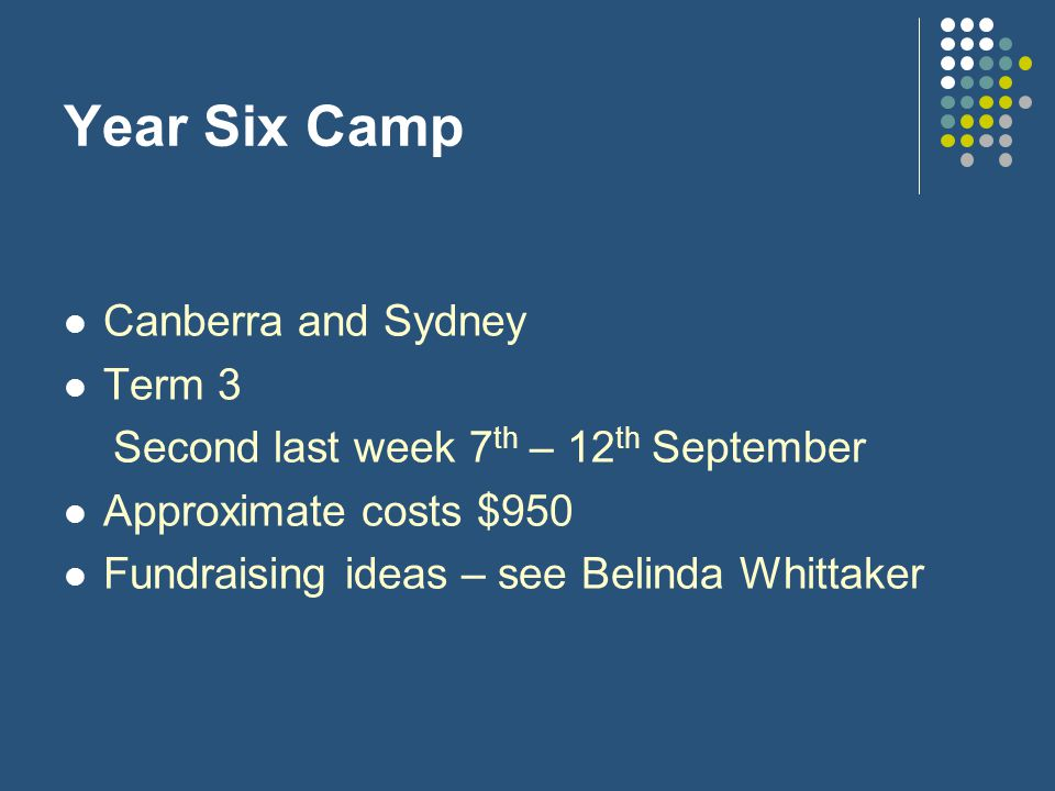 Year Six Camp Canberra and Sydney Term 3