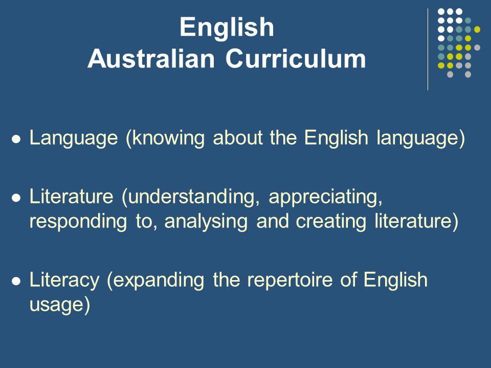 English Australian Curriculum