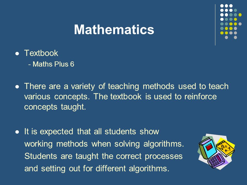 Mathematics Textbook. - Maths Plus 6.