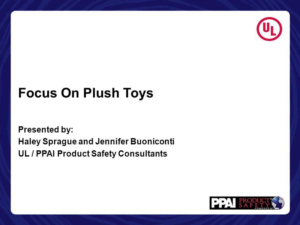 Focus On Plush Toys Presented by: