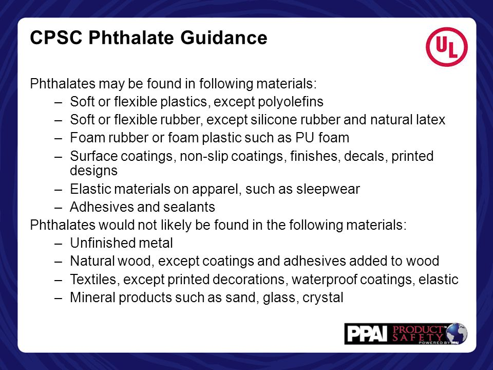 CPSC Phthalate Guidance