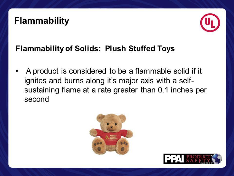 Flammability Flammability of Solids: Plush Stuffed Toys
