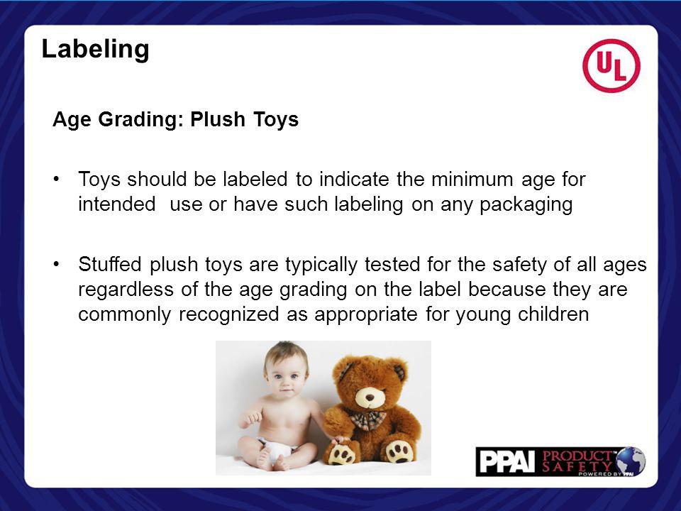 Labeling Age Grading: Plush Toys