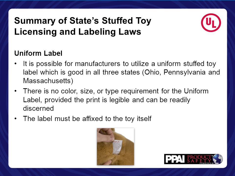 Summary of State's Stuffed Toy Licensing and Labeling Laws