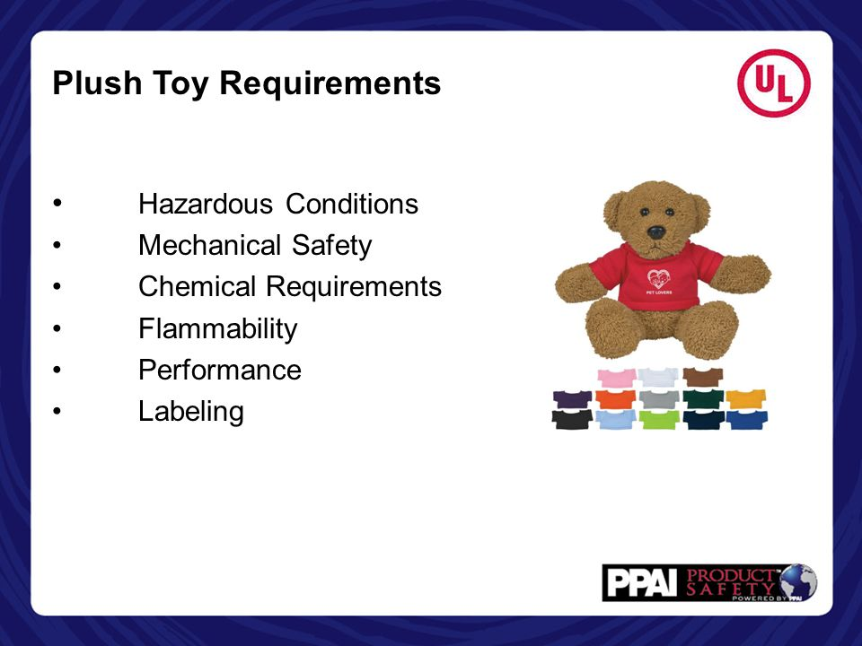 Plush Toy Requirements