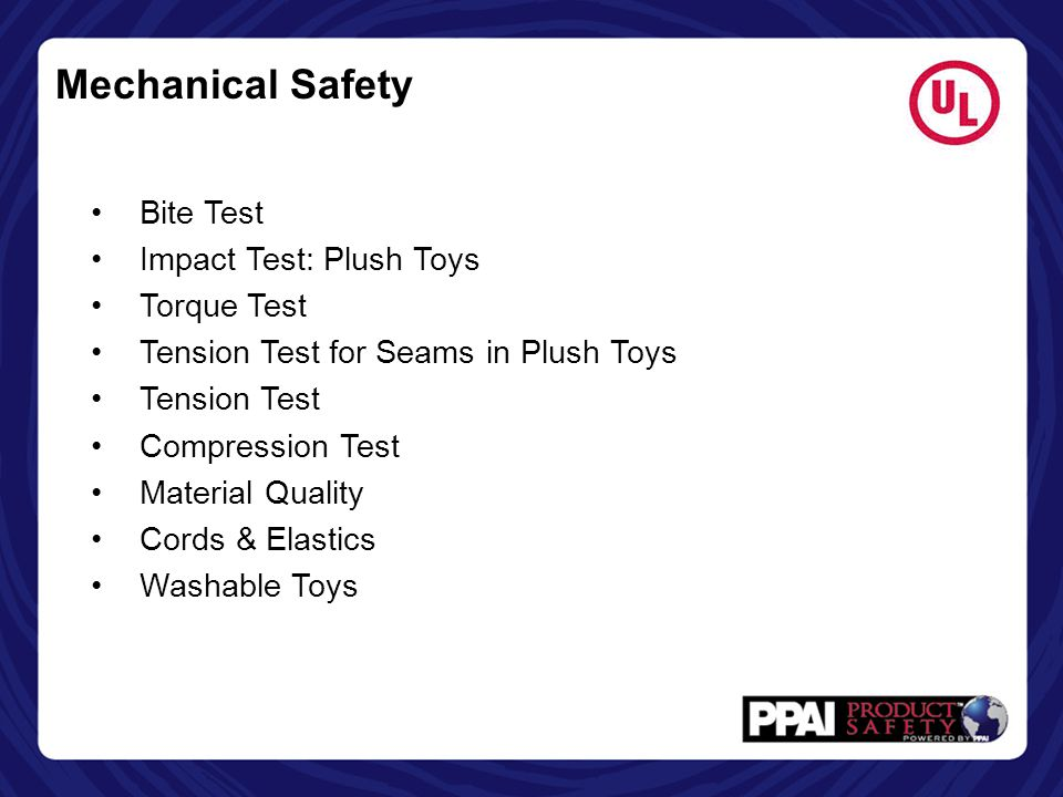 Mechanical Safety Bite Test Impact Test: Plush Toys Torque Test