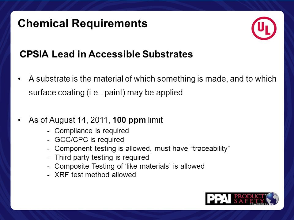 Chemical Requirements