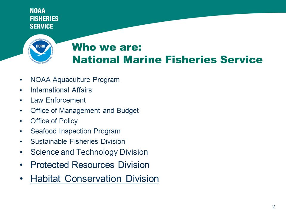 Who we are: National Marine Fisheries Service