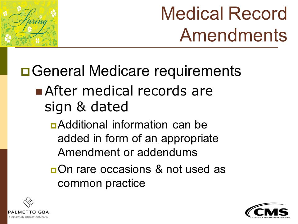 Medical Record Amendments