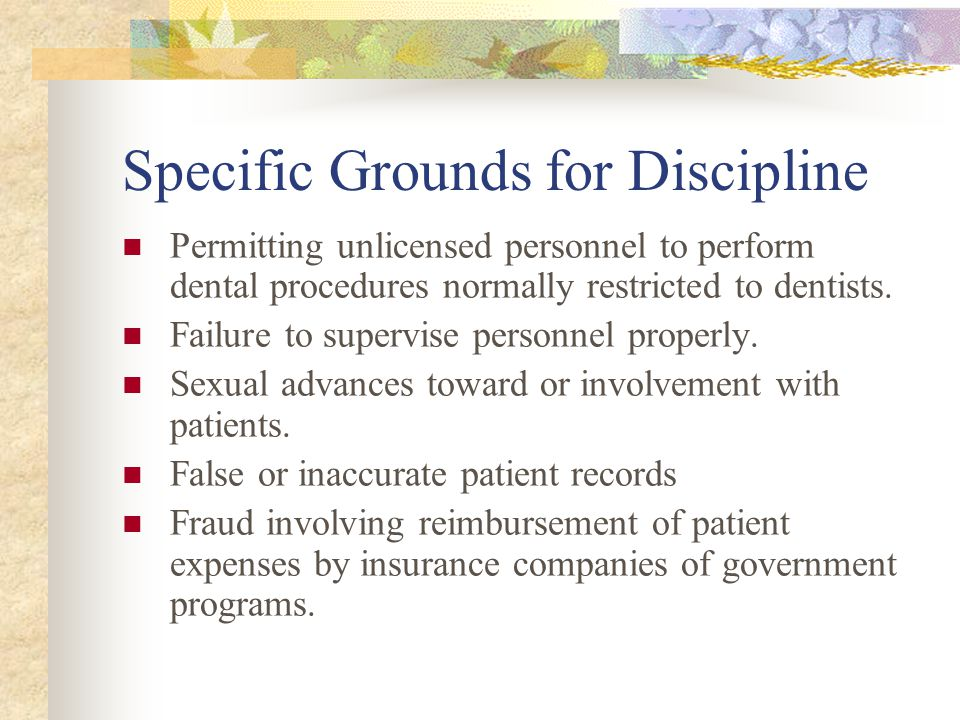 Specific Grounds for Discipline