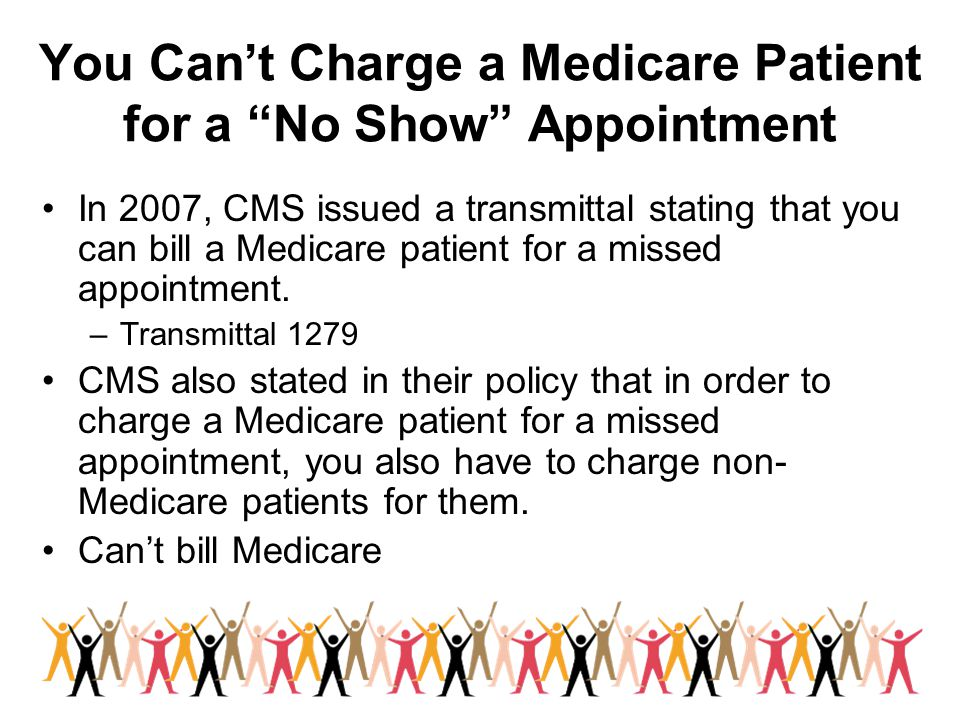 You Can't Charge a Medicare Patient for a No Show Appointment