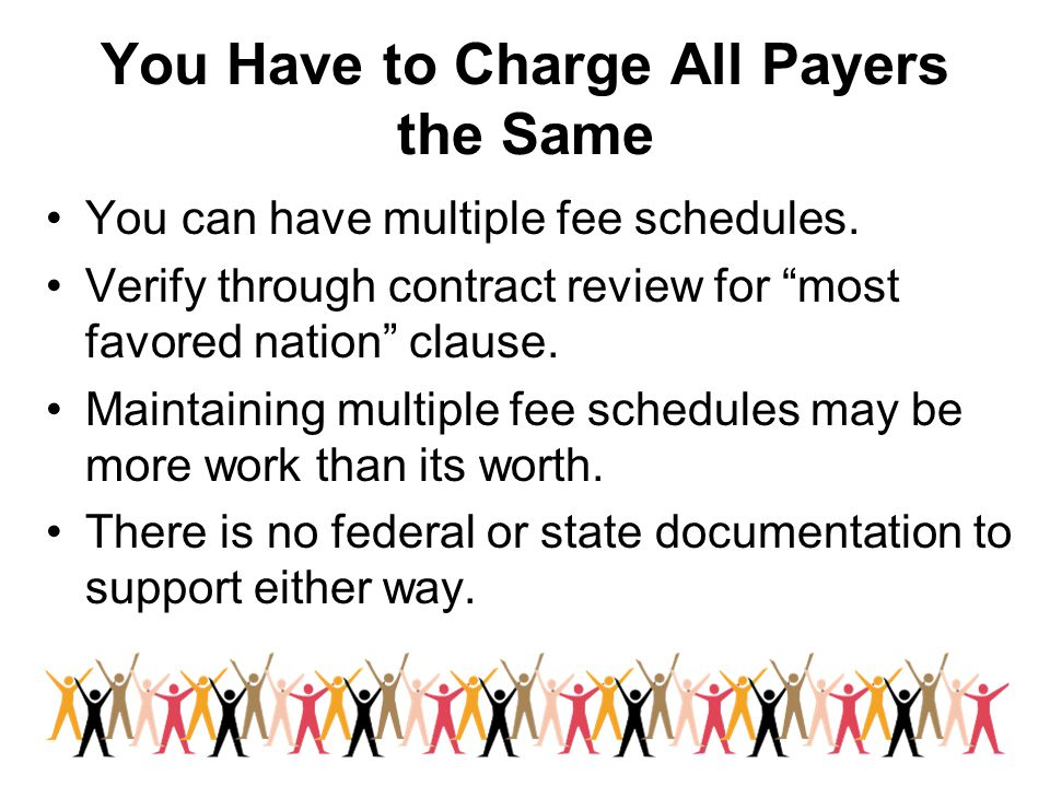 You Have to Charge All Payers the Same
