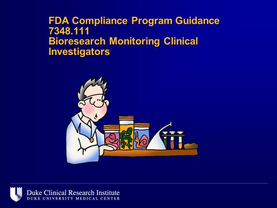 FDA Compliance Program Guidance 7348