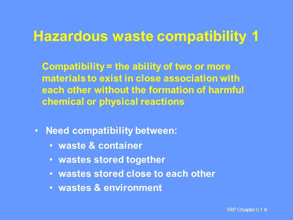 Hazardous waste compatibility 1