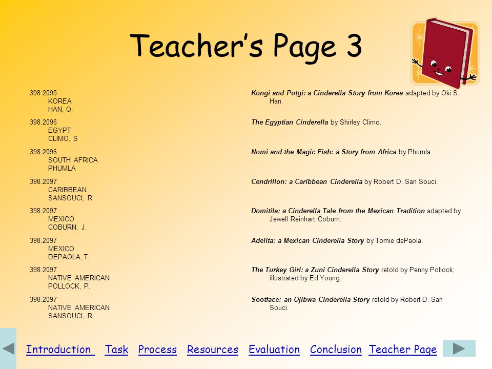 Introduction Task Process Resources Evaluation Conclusion Teacher Page