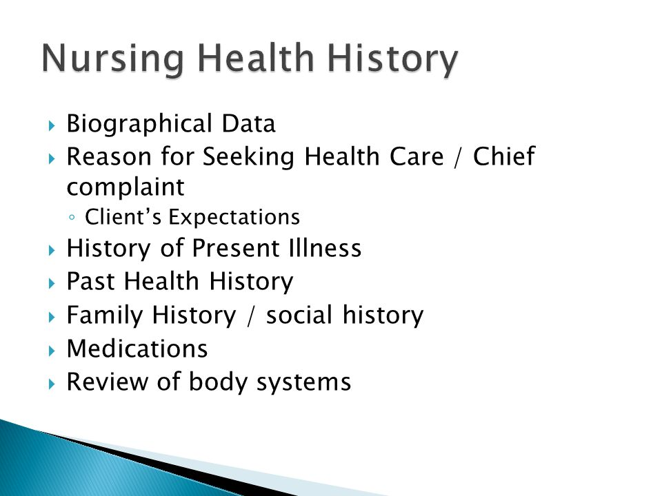 Nursing Health History