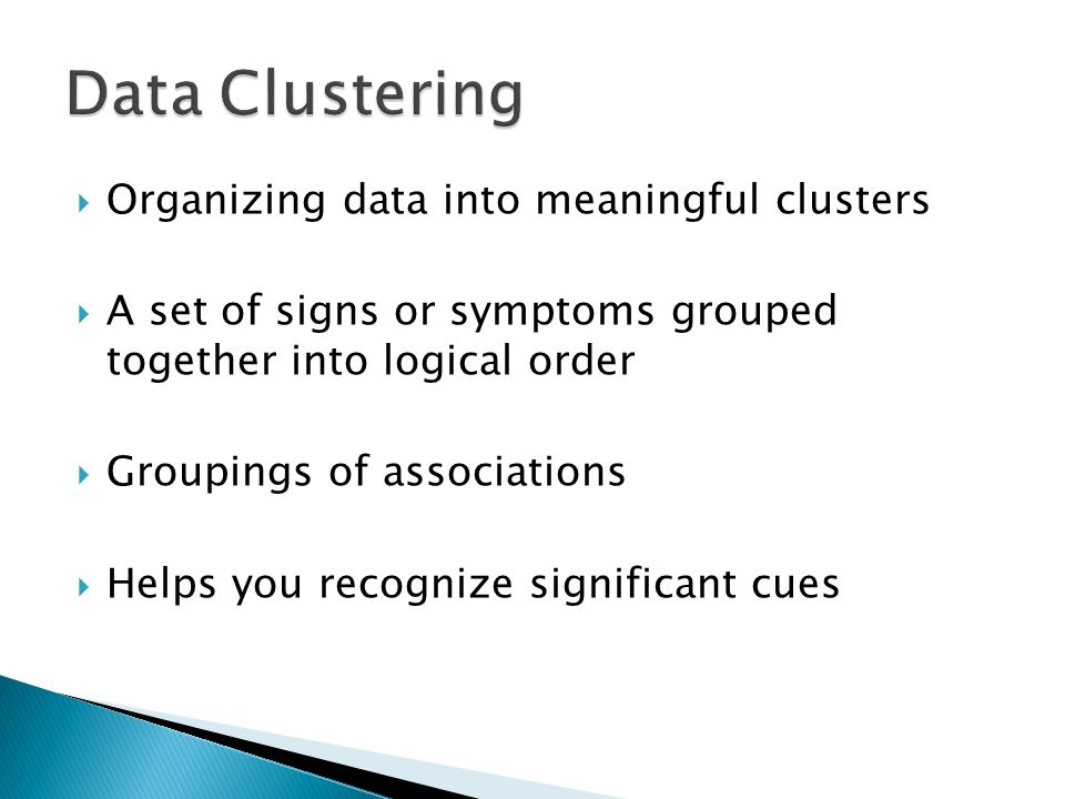 Data Clustering Organizing data into meaningful clusters