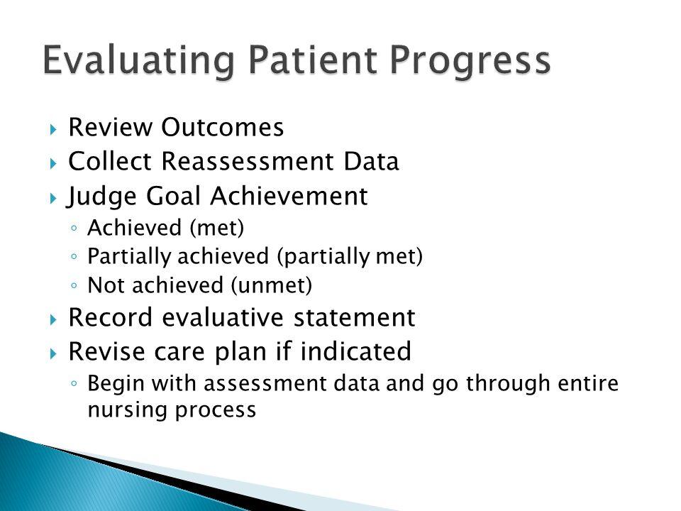 Evaluating Patient Progress