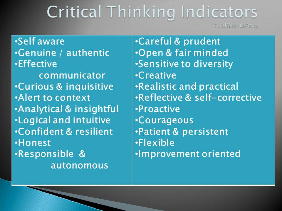 Critical thinking in nursing education and practice as defined in the literature