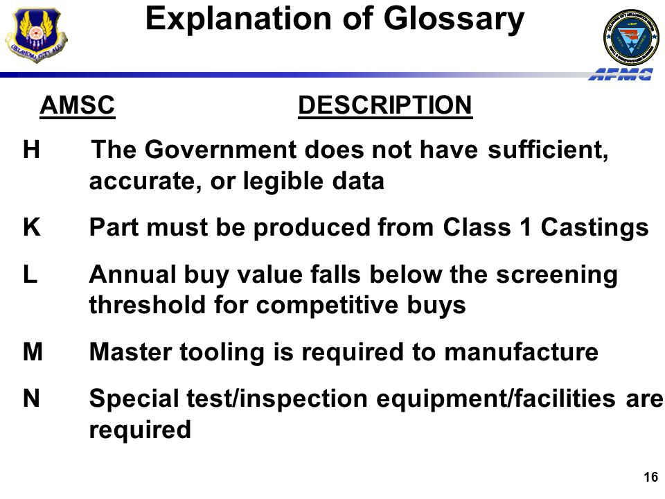 Explanation of Glossary