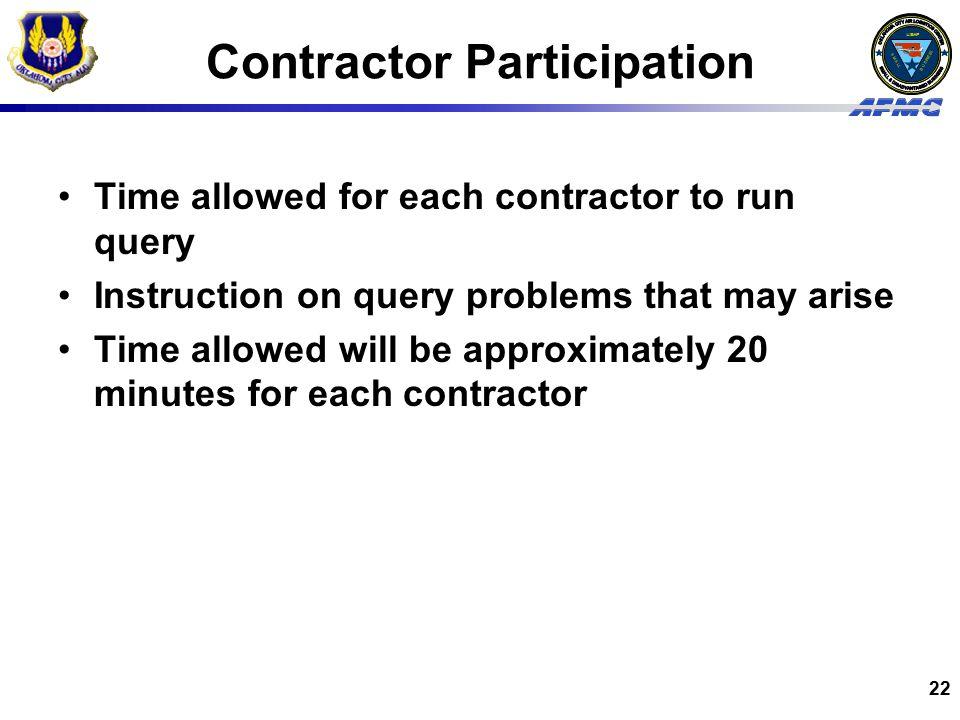Contractor Participation