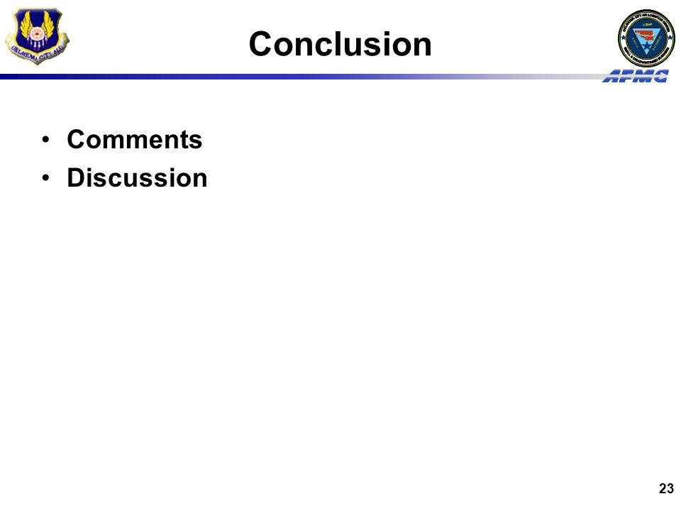 Conclusion Comments Discussion