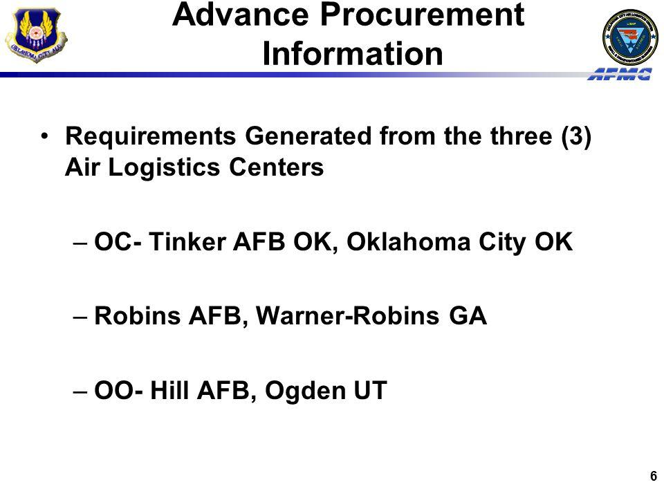 Advance Procurement Information