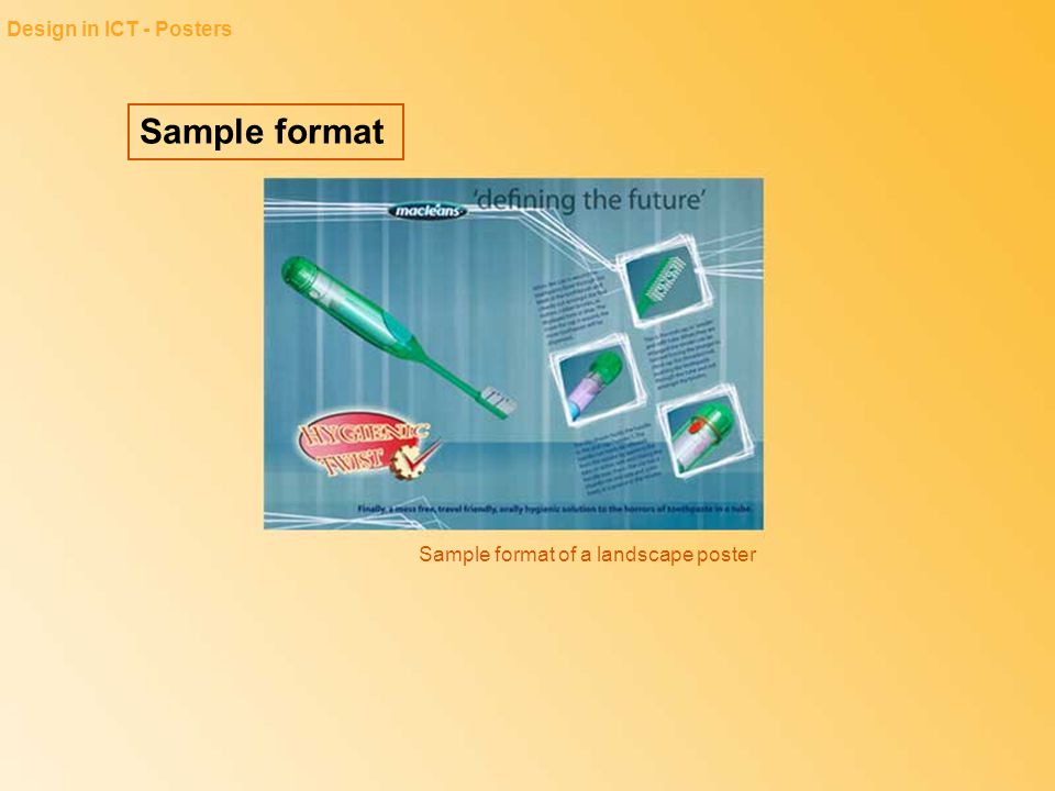 Sample format Design in ICT - Posters