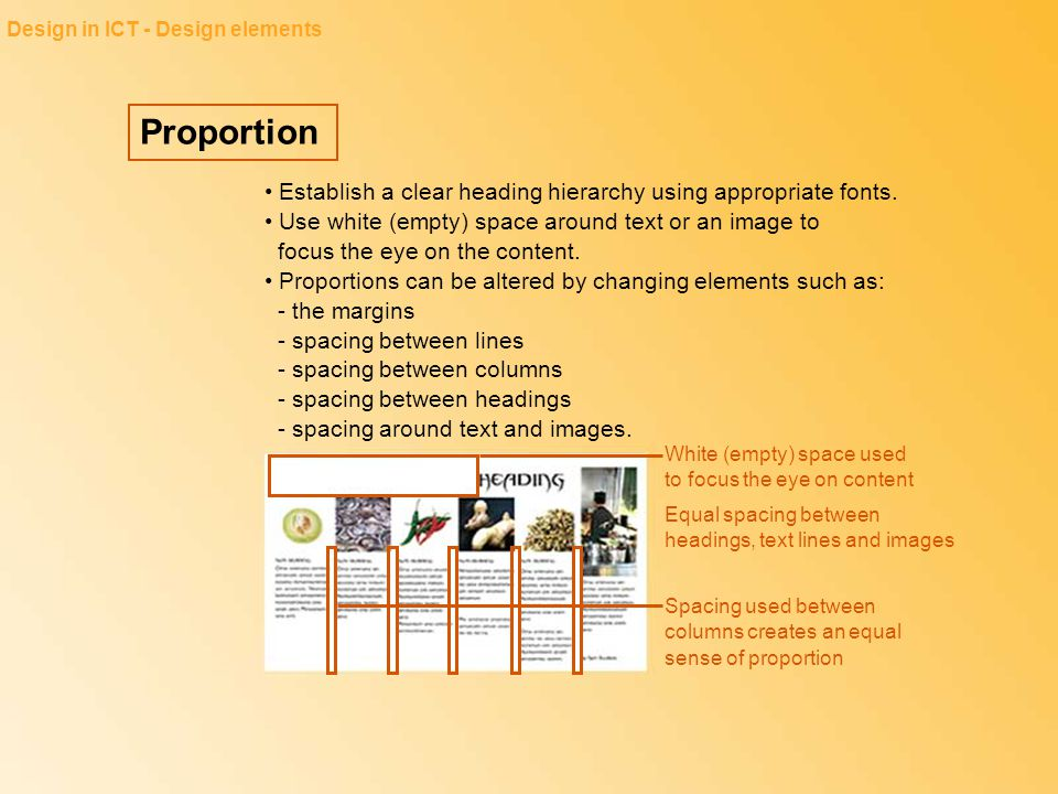 Design in ICT - Design elements