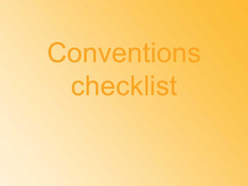 Conventions checklist
