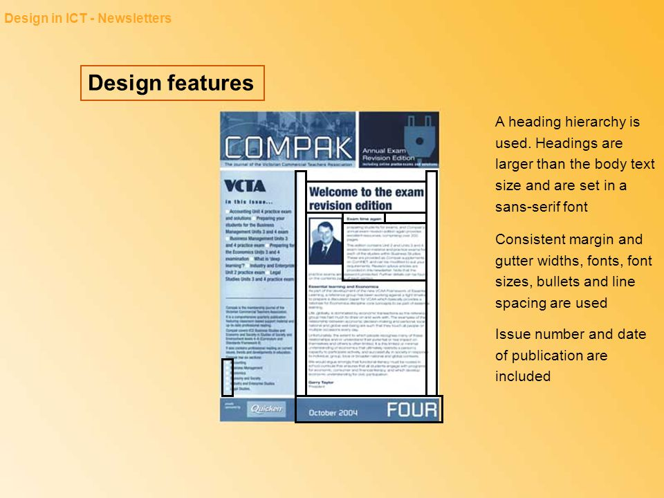 Design in ICT - Newsletters