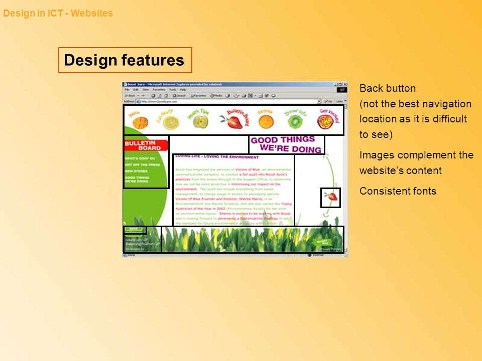 Design in ICT - Websites