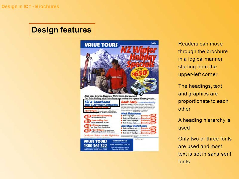 Design in ICT - Brochures